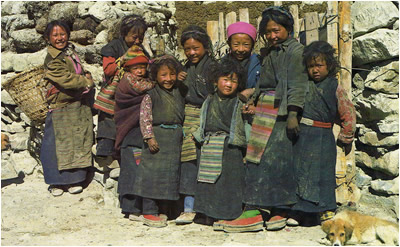 Tibetan children near Lhasa