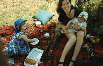 Helena with Xanthe and Tallulah in Provence